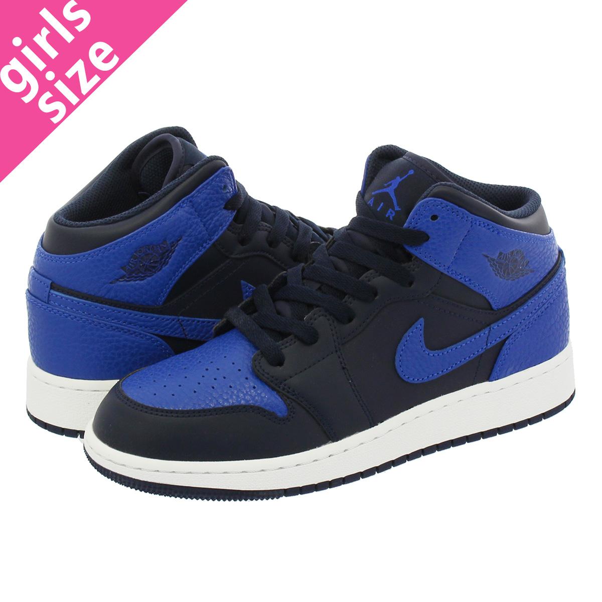 2b9f96cf33ee NIKE AIR JORDAN 1 MID BG Nike Air Jordan 1 mid BG OBSIDIAN GAME ROYAL SUMMIT  WHITE