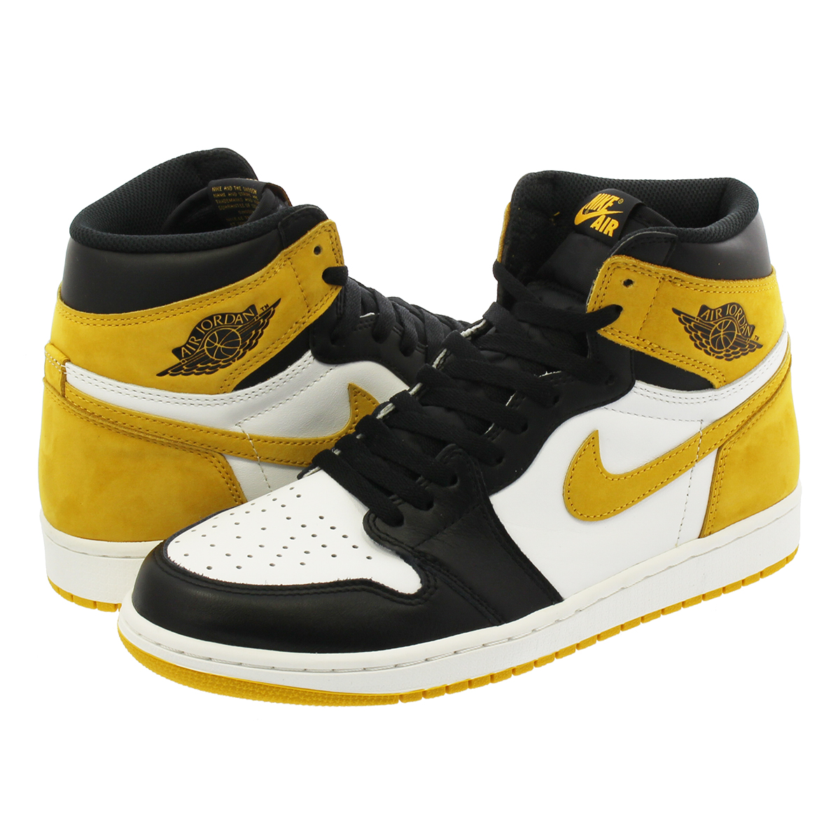 NIKE AIR JORDAN 1 RETRO HIGH OG Nike Air Jordan 1 nostalgic high OG  WHITE BLACK YELLOW OCHRE a774c54d7