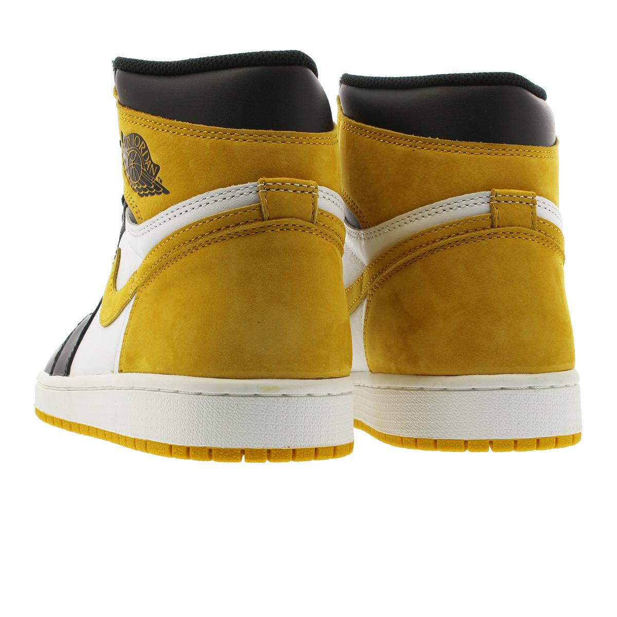 cf896a9f7d54be NIKE AIR JORDAN 1 RETRO HIGH OG Nike Air Jordan 1 nostalgic high OG WHITE  BLACK YELLOW OCHRE