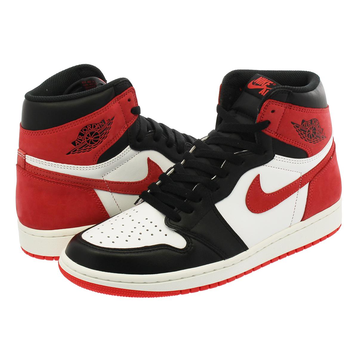 huge discount d5c0c f5124 NIKE AIR JORDAN 1 RETRO HIGH OG Nike Air Jordan 1 nostalgic high OG  WHITE/BLACK/RED