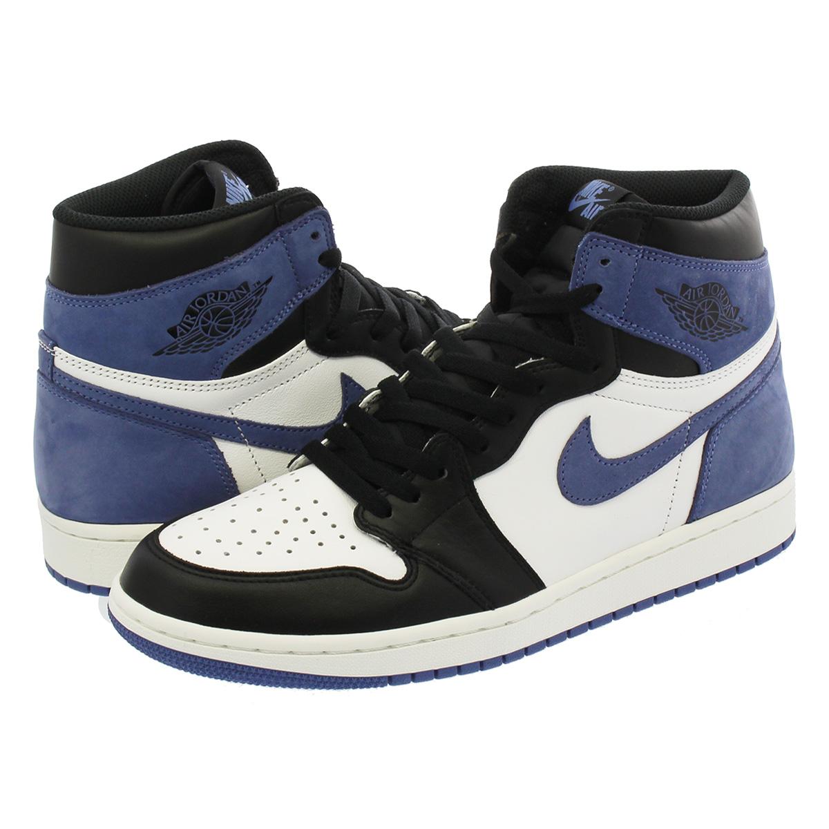 1413e0077fd1 NIKE AIR JORDAN 1 RETRO HIGH OG Nike Air Jordan 1 nostalgic high OG SUMMIT  WHITE BLUE MOON BLACK 555