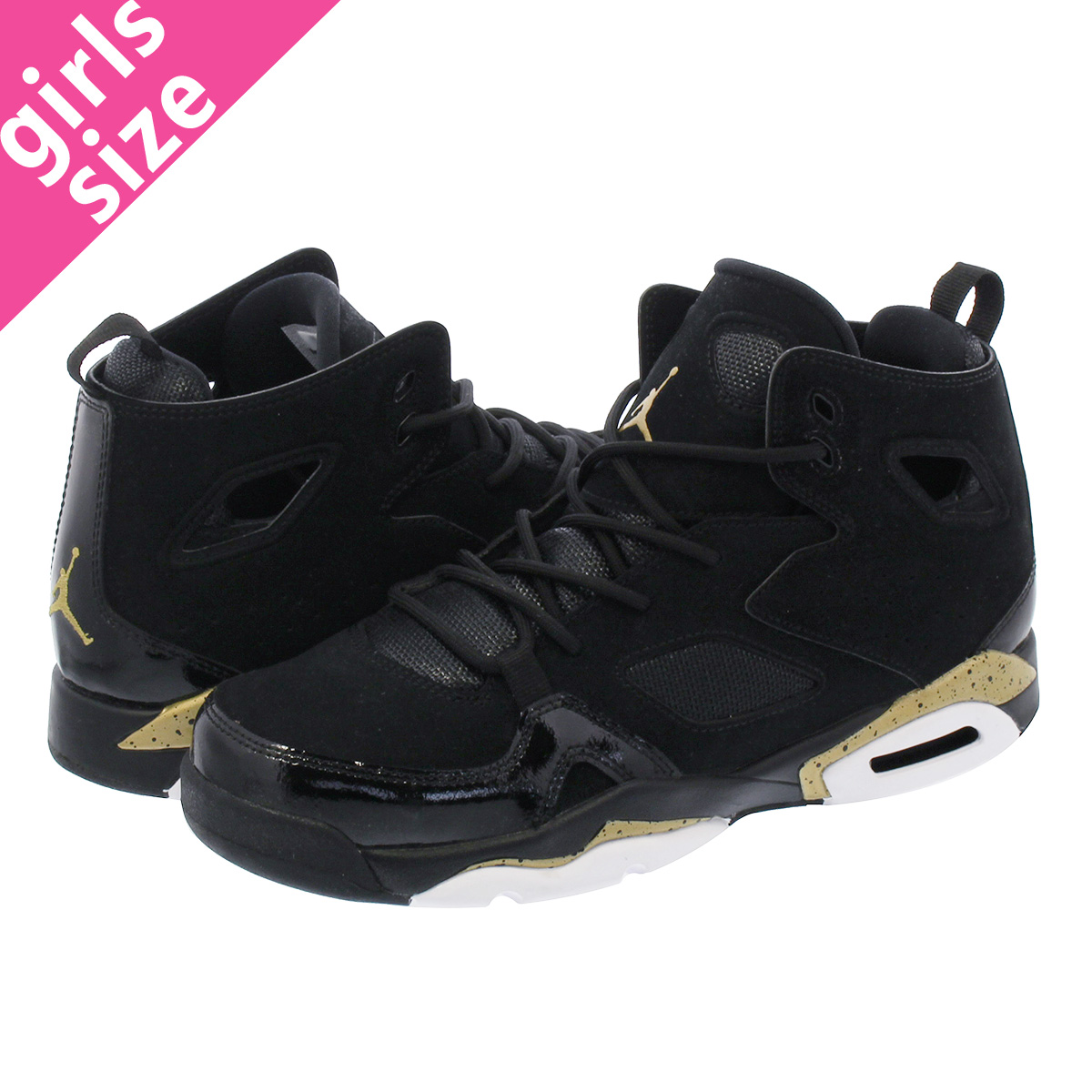 d414c1520ae5a9 LOWTEX BIG-SMALL SHOP  NIKE JORDAN FLIGHT CLUB 91 GS Nike Jordan flight  club 91 GS BLACK GOLD WHITE 555