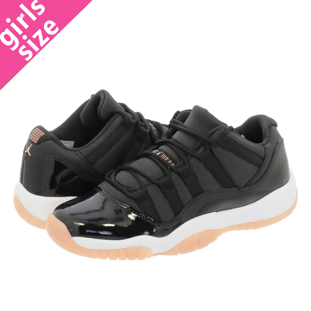 ead891128ef5ce NIKE AIR JORDAN 11 RETRO LOW GG Nike Air Jordan 11 nostalgic low BG BLACK BLEACHED  CORAL WHITE 580