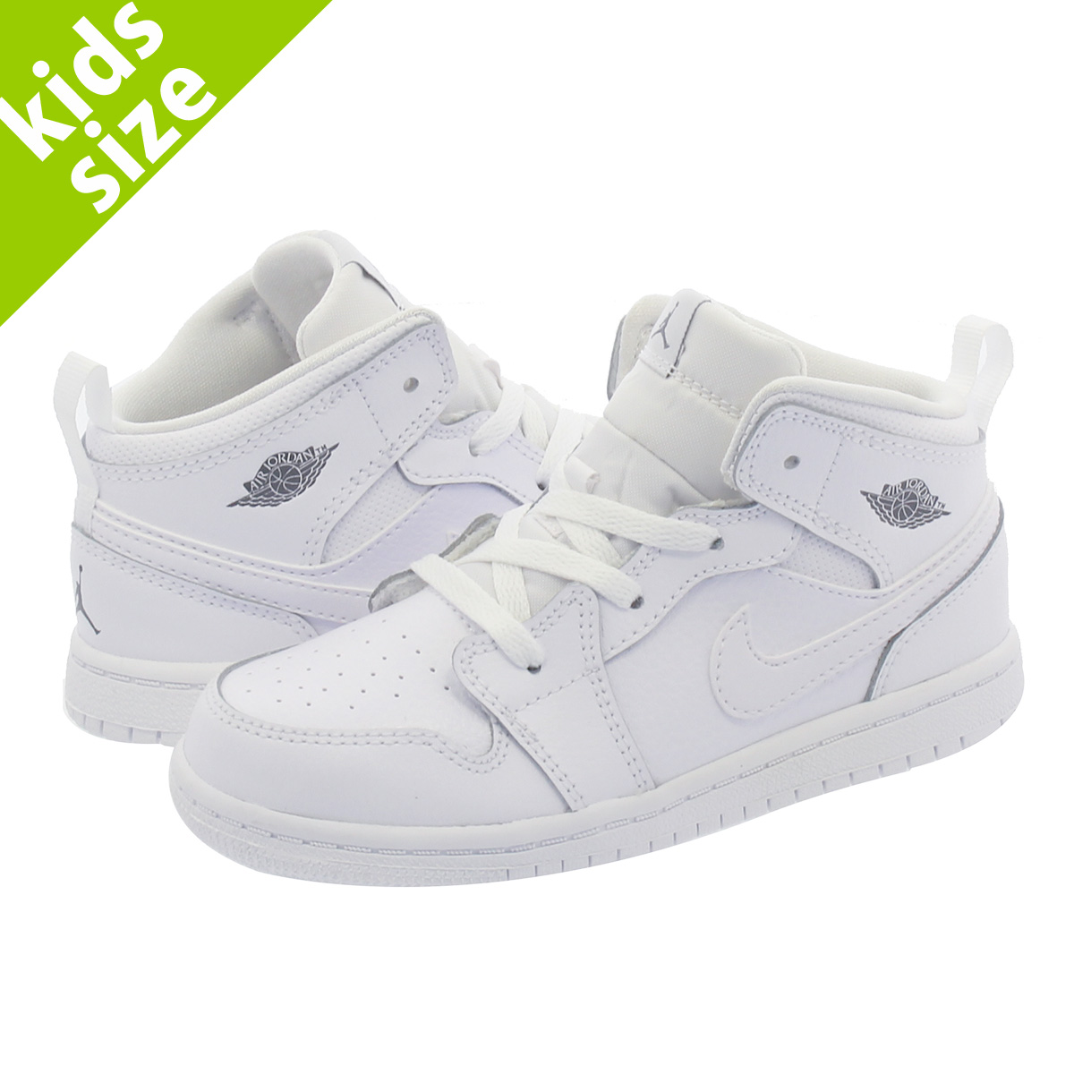 1a1920c01e NIKE AIR JORDAN 1 MID BT Nike Air Jordan 1 mid BT WHITE/COOL GREY ...