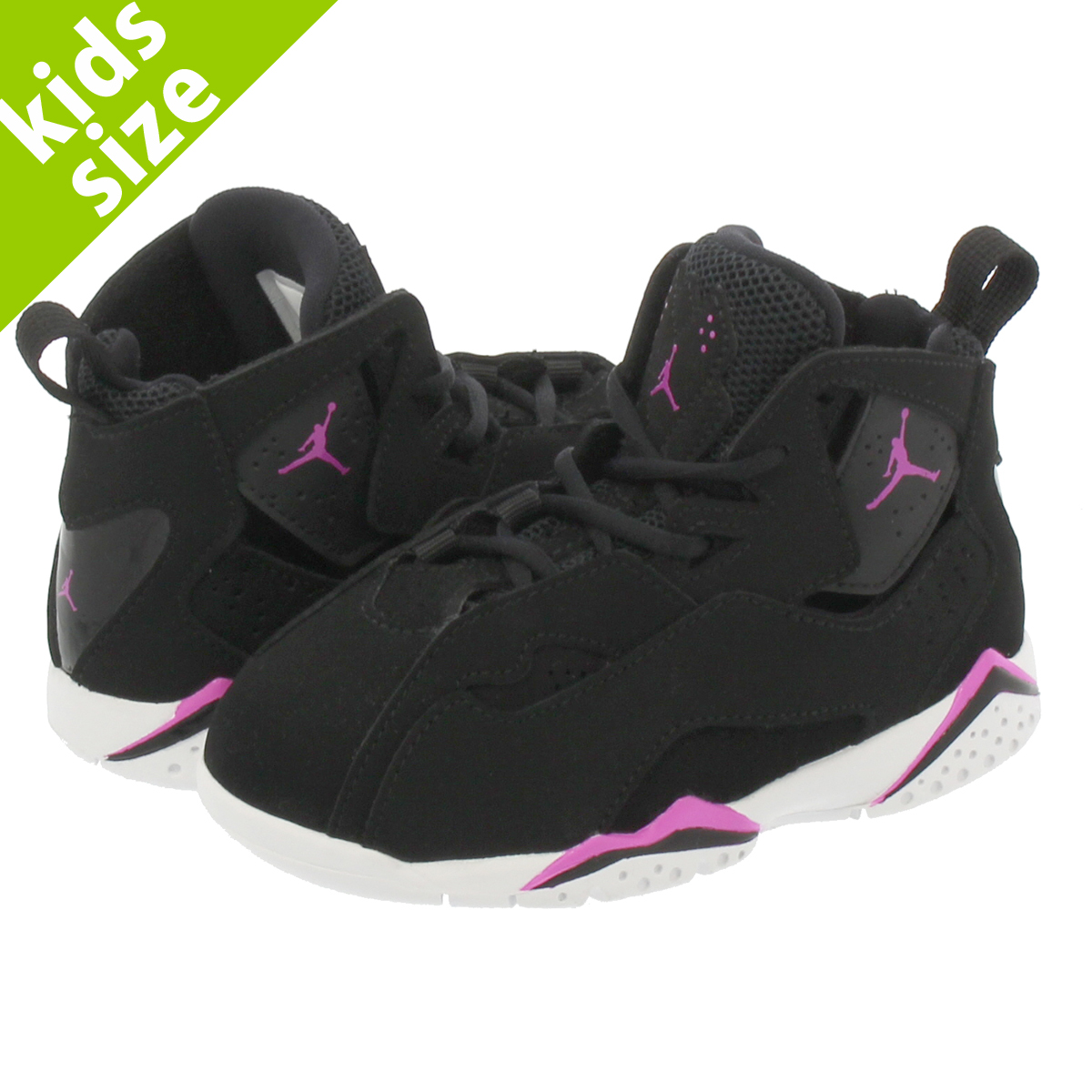 9d6f8986179e NIKE JORDAN TRUE FLIGHT TD Nike Air Jordan toe roof light TD BLACK FUSCHSIA  BLAST WHITE 645