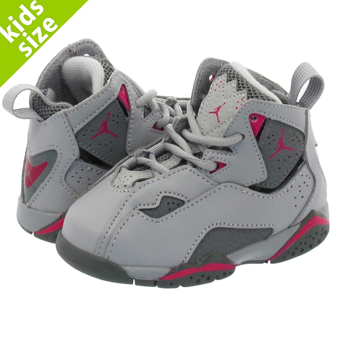 414f696c65cc NIKE JORDAN TRUE FLIGHT TD Nike Air Jordan toe roof light TD WOLF  GREY DEADLY PINK