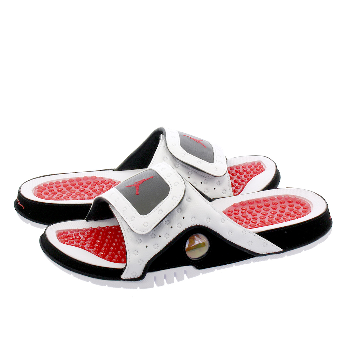 27dfd196f0971a ... Red Online  NIKE JORDAN HYDRO 13 RETRO SLIDE Nike Jordan high mud 13  nostalgic slide WHITE BLACK TRUE ...