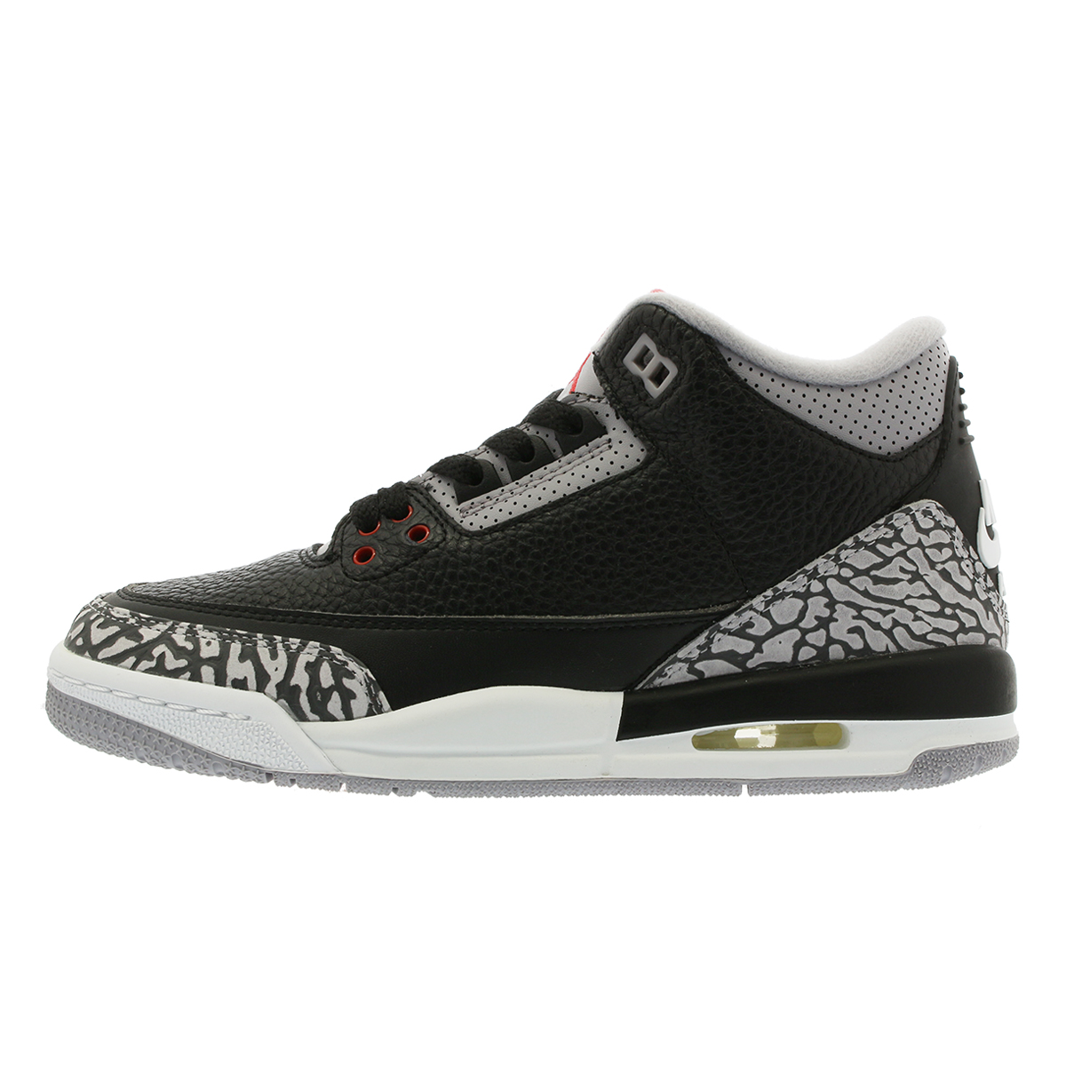 71d81e41c925e1 NIKE AIR JORDAN 3 RETRO OG BG Nike air Jordan 3 nostalgic OG BG BLACK FIRE  RED CEMENT GREY WHITE 854
