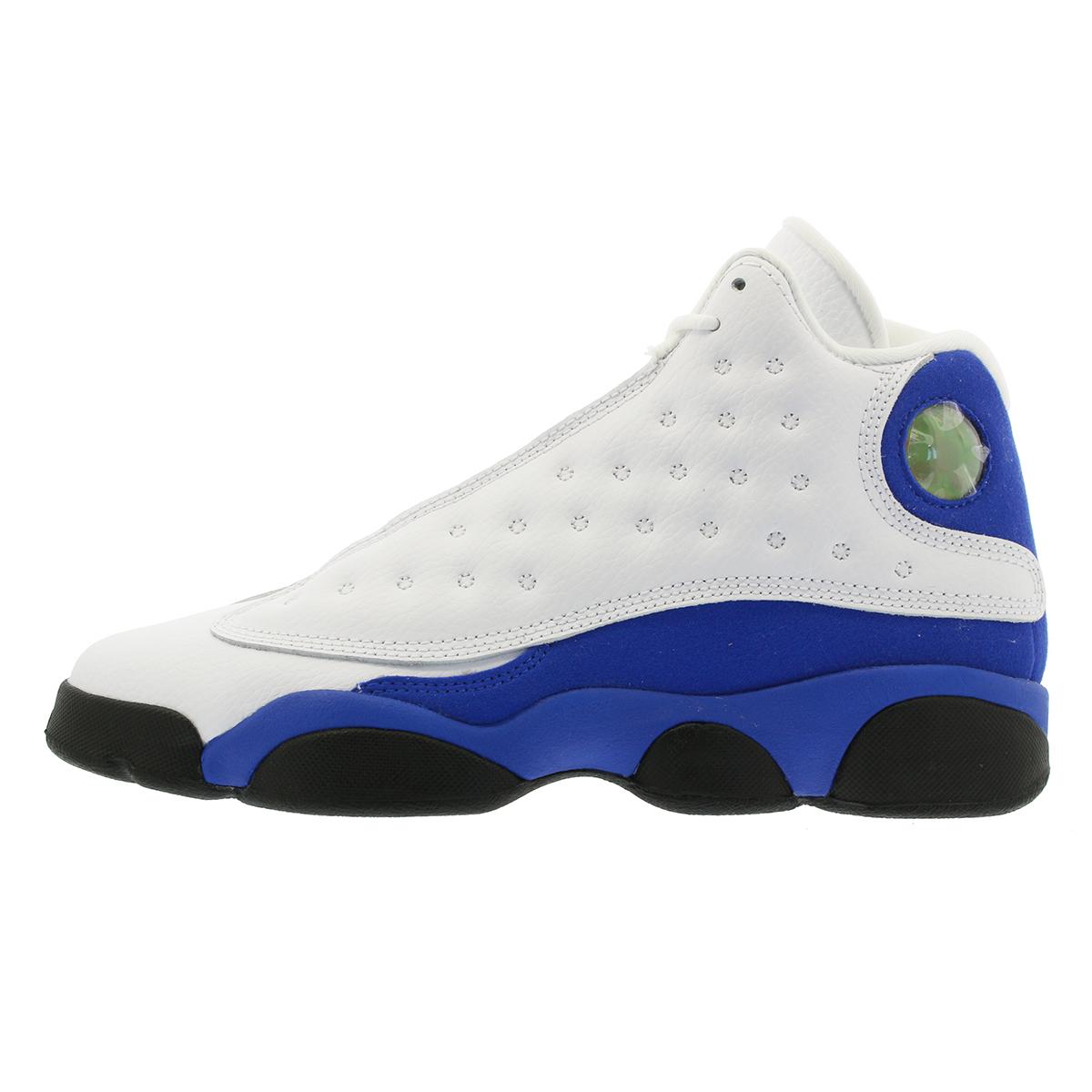 official photos ca87c bfaab NIKE AIR JORDAN 13 RETRO BG Nike Air Jordan 13 nostalgic WHITE/HYPER  ROYAL/BLACK