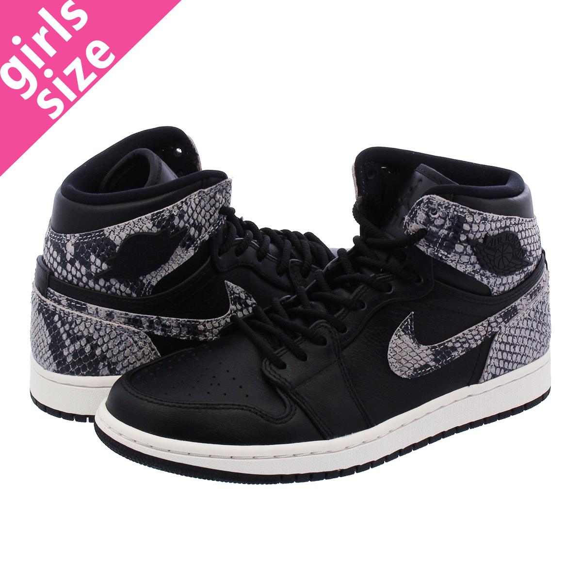 NIKE WMNS AIR JORDAN 1 RETRO HI PREM Nike women Air Jordan 1 nostalgic high  premium BLACK PHANTOM ah7389-014 232a6c7a1