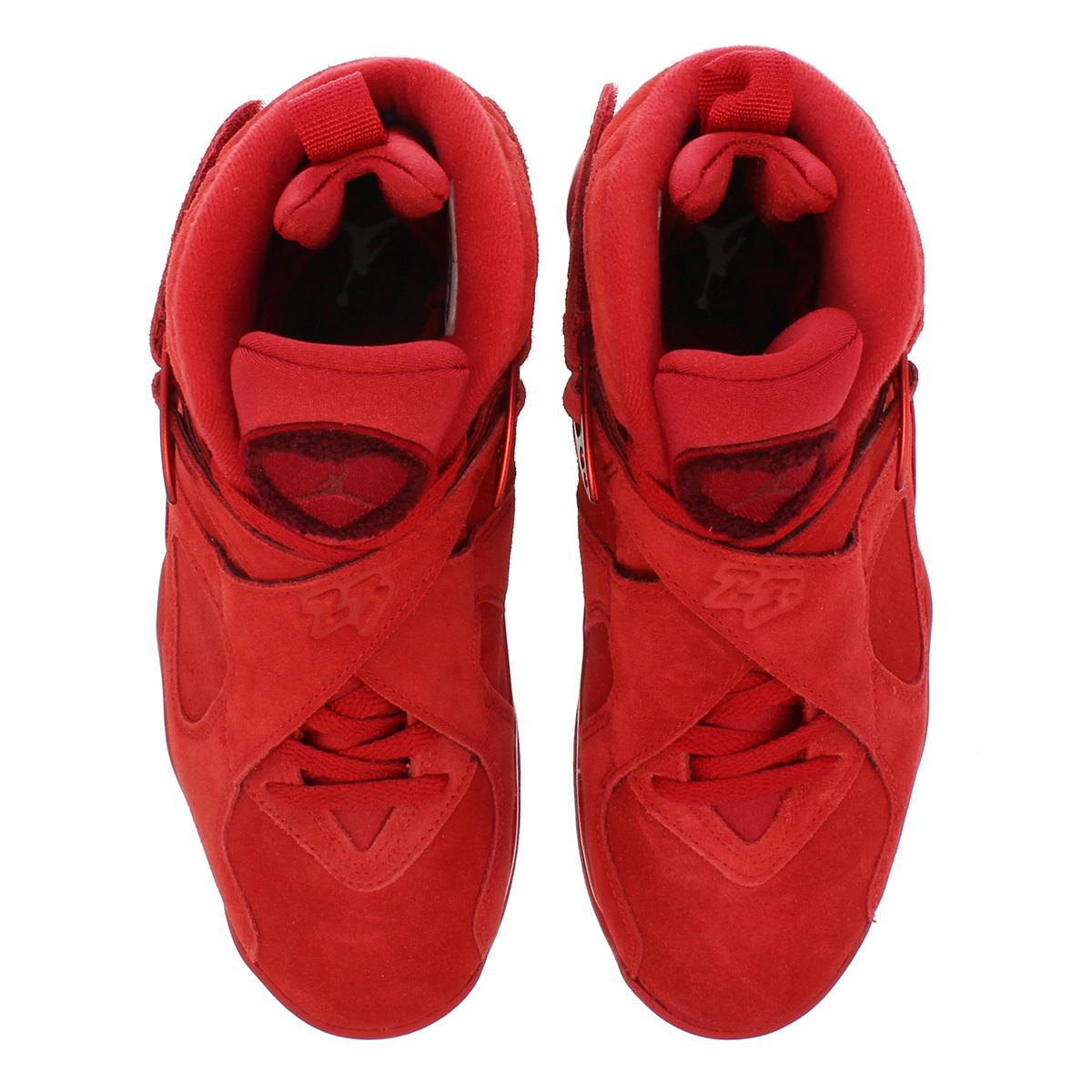 6fb47ba91898 NIKE WMNS AIR JORDAN 8 RETRO VDAY Nike women Air Jordan 8 nostalgic GYM  RED EMBER GLOW TEAM RED aq2449-614-l
