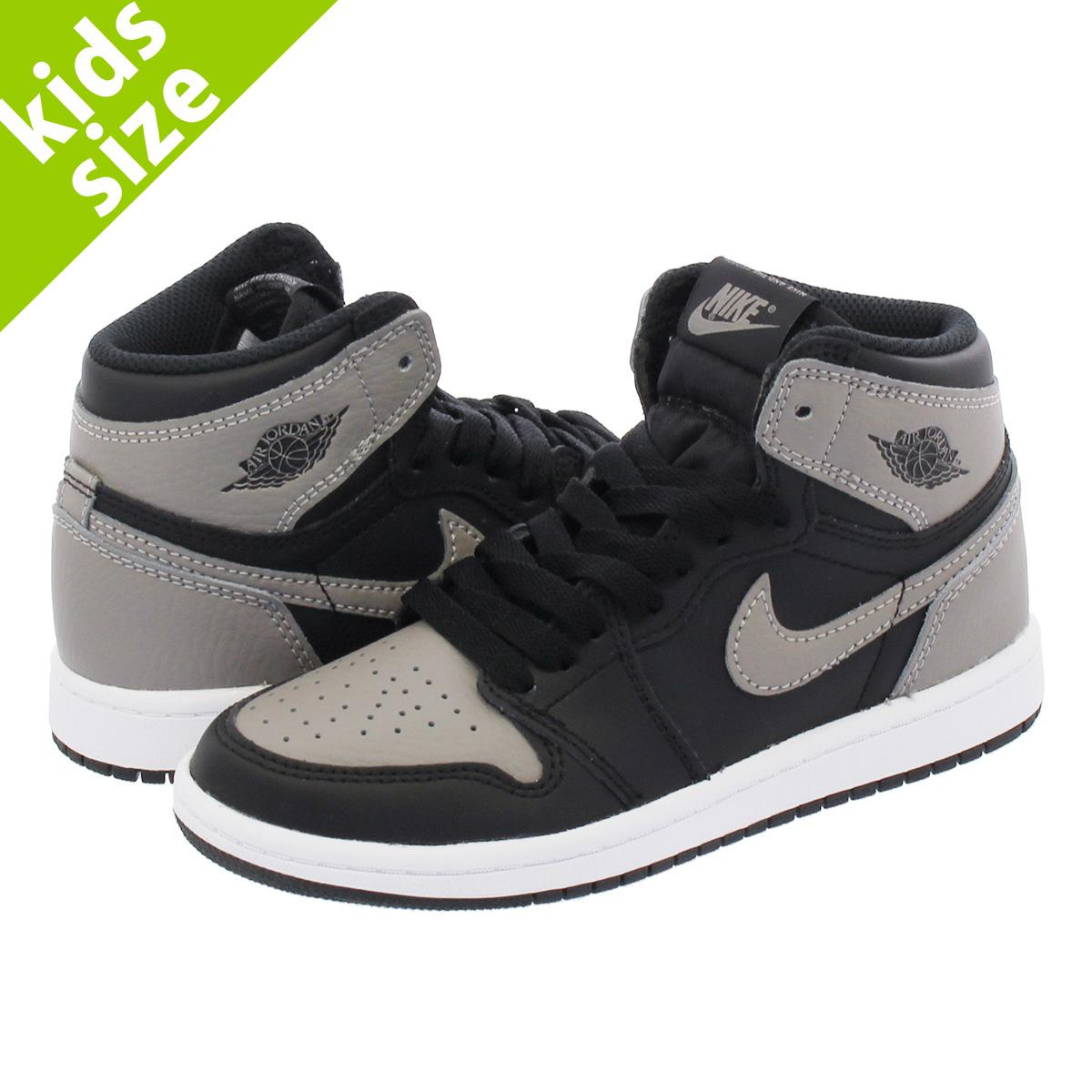 LOWTEX BIG-SMALL SHOP  NIKE AIR JORDAN 1 RETRO HIGH OG BP Nike Air Jordan 1  nostalgic high OG BP BLACK MEDIUM GREY WHITE aq2664-013  61e0625eb