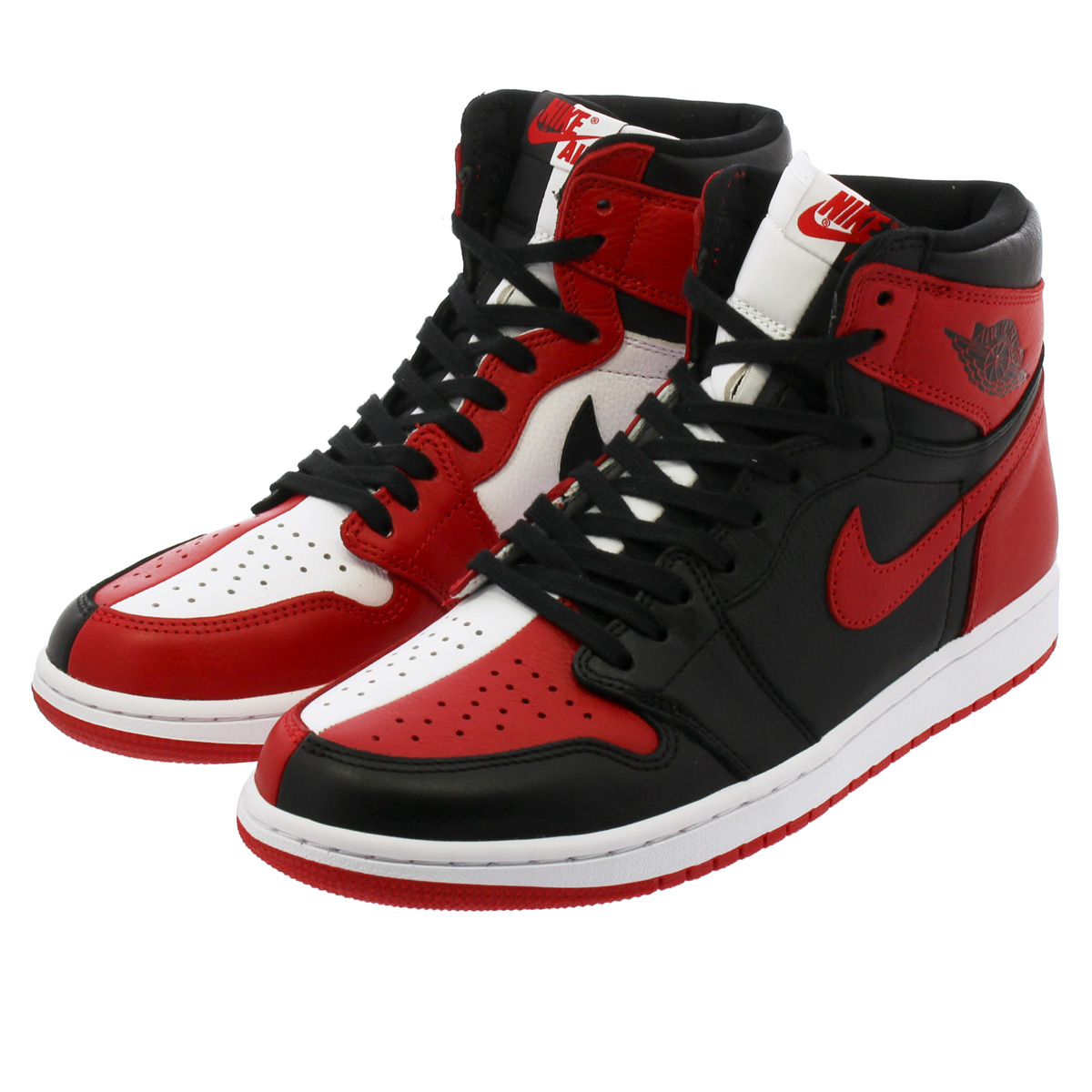 NIKE AIR JORDAN 1 RETRO HIGH OG Nike Air Jordan 1 nostalgic high OG BLACK  WHITE UNIVERSITY RED 31d1837dc