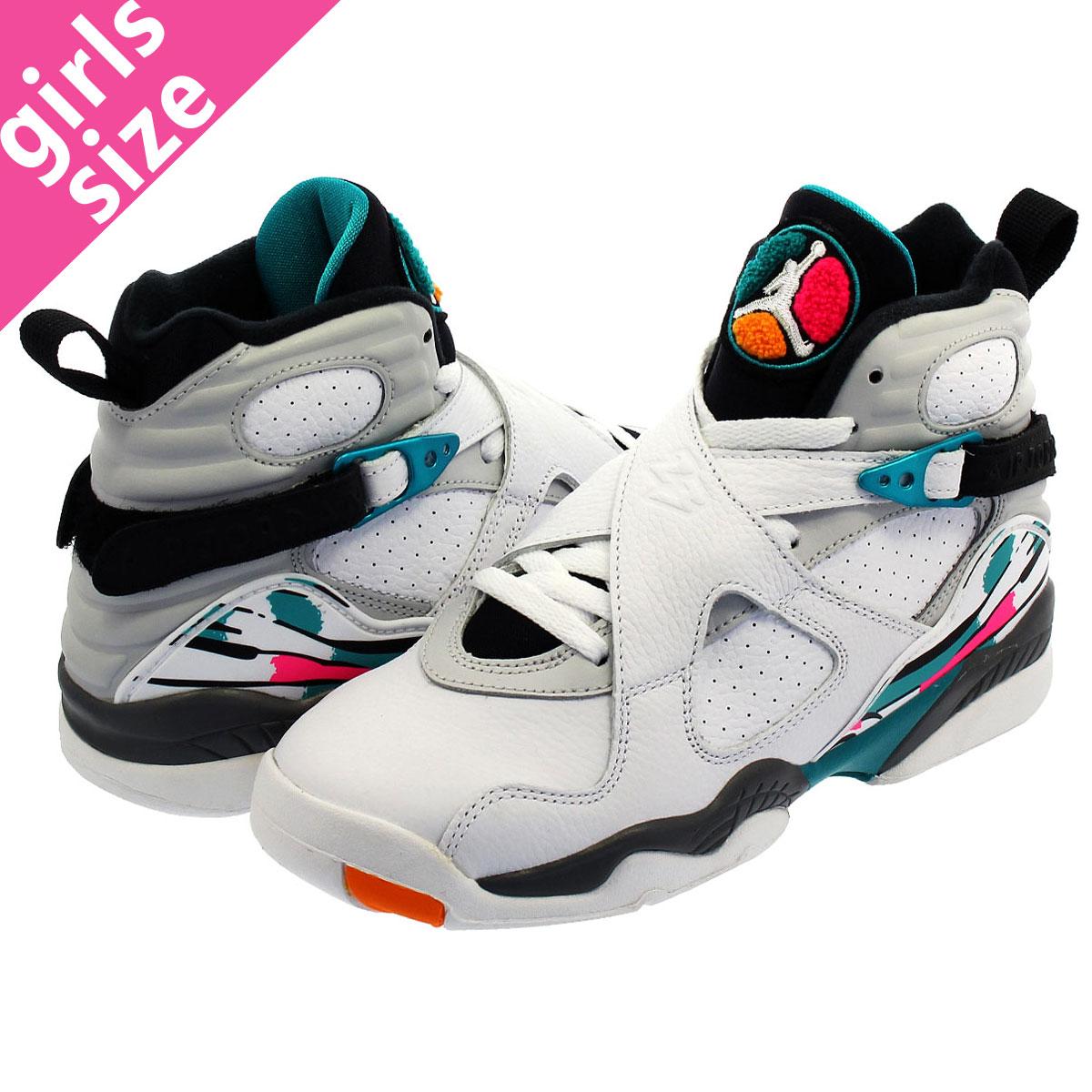 c66e17b126518f NIKE AIR JORDAN 8 RETRO GS Nike Air Jordan 8 nostalgic GS WHITE TURBO  GREEN MULTI COLOR 305