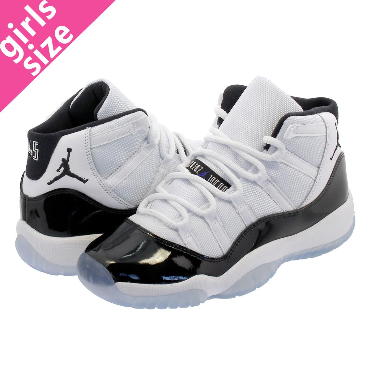 f0f6e9890dfa NIKE AIR JORDAN 11 RETRO BG Nike Air Jordan 11 nostalgic BG WHITE CONCORD BLACK  378