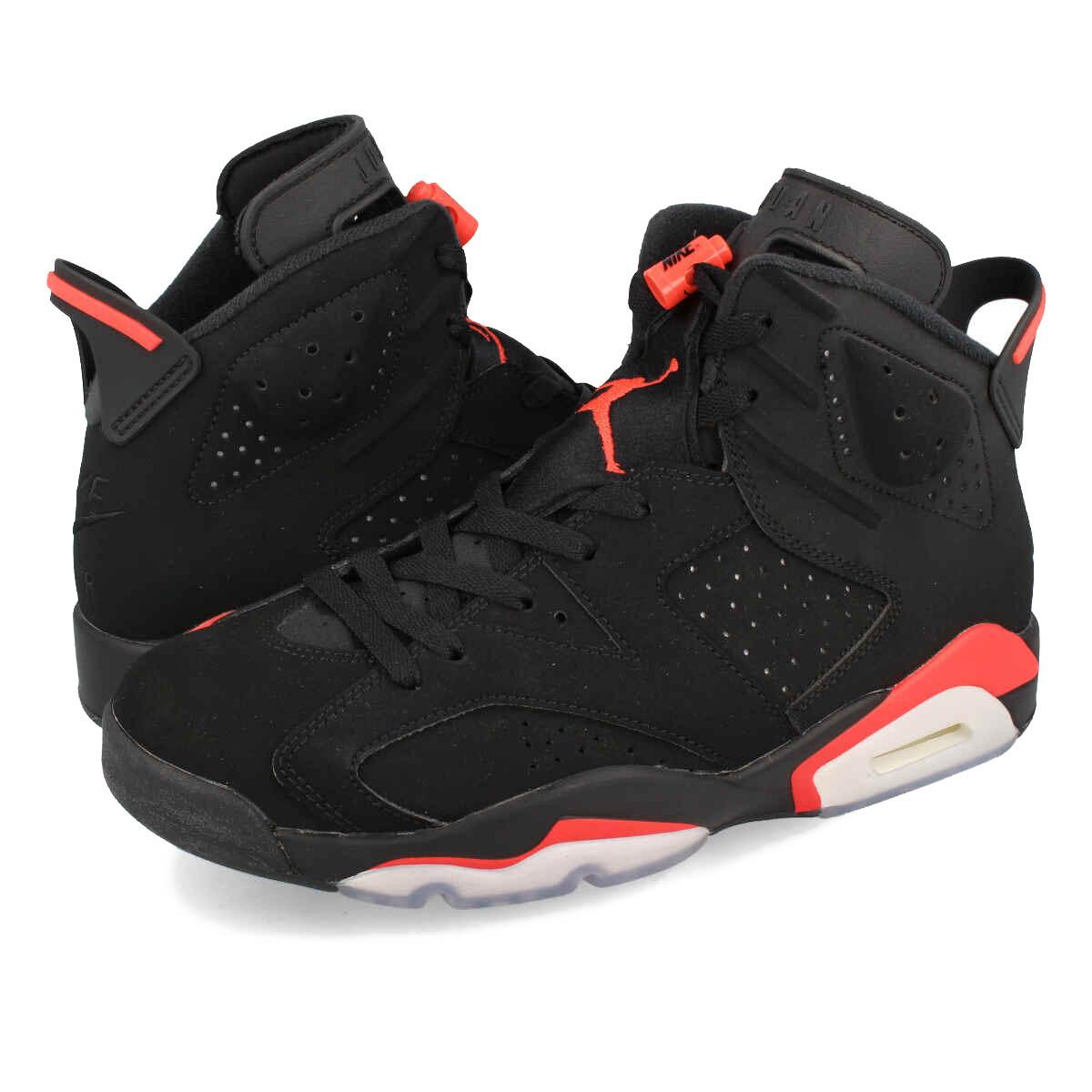 9b10555db66 NIKE AIR JORDAN 6 RETRO Nike Air Jordan 6 nostalgic BLACK/INFRARED  384,664-060 ...
