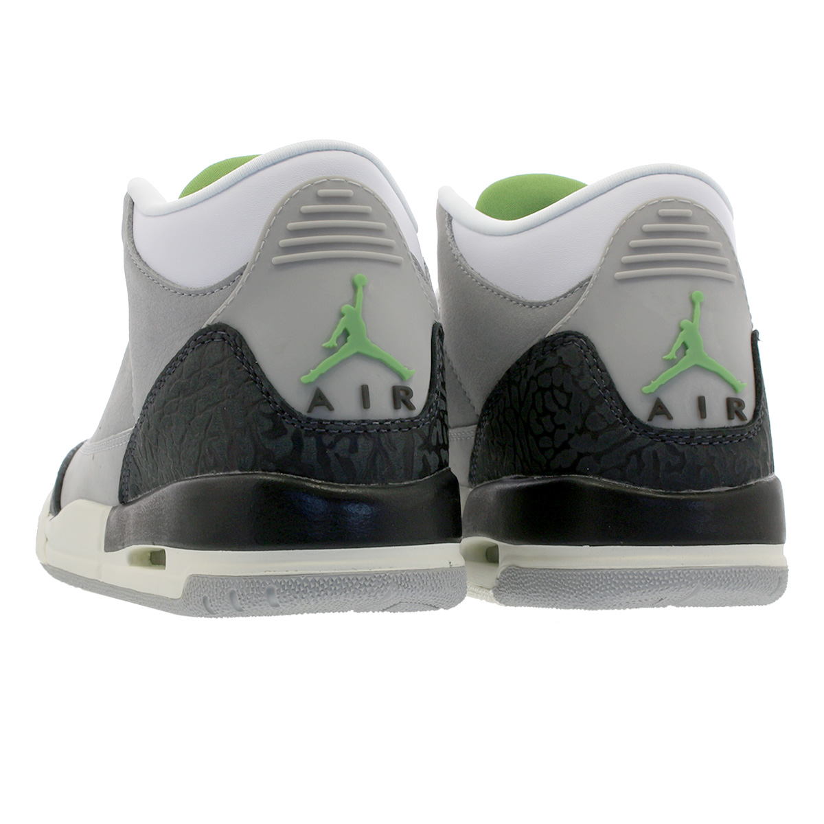 half off 114ab d59bb NIKE AIR JORDAN 3 RETRO GS Nike air Jordan 3 nostalgic GS LIGHT SMOKE GREY  CHLOROPHYLL BLACK WHITE 398,614-006