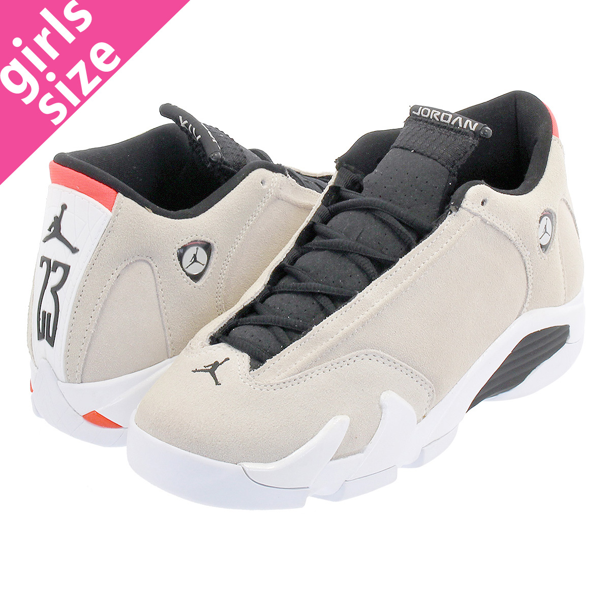 cheap for discount 0924b 0734e NIKE AIR JORDAN 14 RETRO BG Nike Air Jordan 14 nostalgic BG DESERT SAND BLACK WHITE INFRARED  23 487,524-021