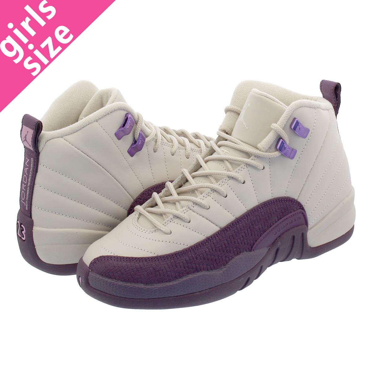 NIKE AIR JORDAN 12 RETRO GS Nike Air Jordan 12 nostalgic GS DESERT  SAND DESERT SAND PRO PURPLE 510 99c0c0b15
