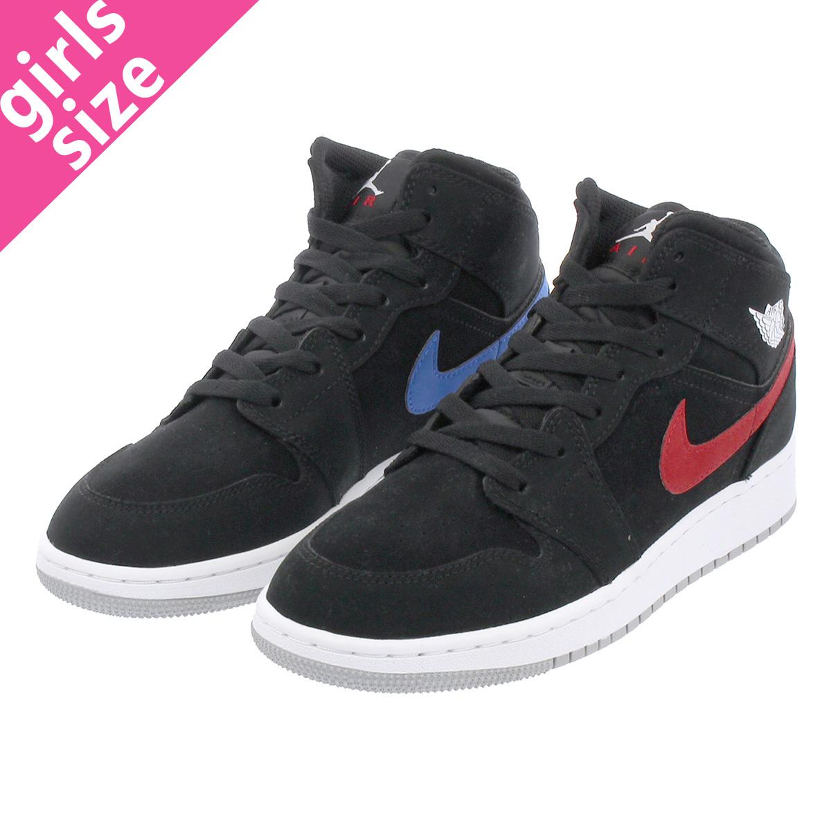 cheap for discount b4dc5 1f520 NIKE AIR JORDAN 1 MID BG Nike Air Jordan 1 mid BG  BLACK/WHITE/RED/YELLOW/BLUE/GREEN 554,725-065