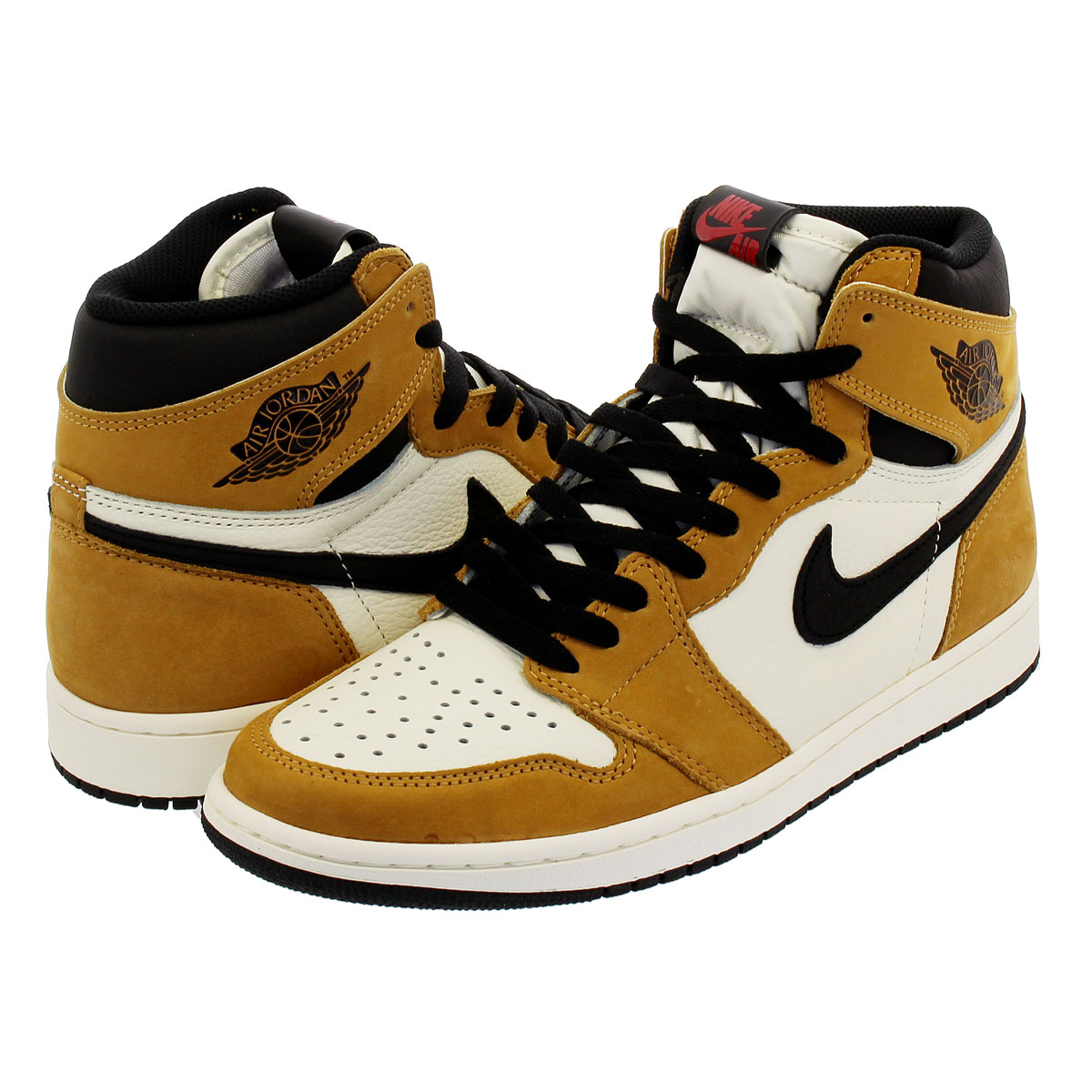 d6784fca36d8 NIKE AIR JORDAN 1 RETRO HIGH OG Nike Air Jordan 1 nostalgic high OG GOLD  HARVEST BLACK 555
