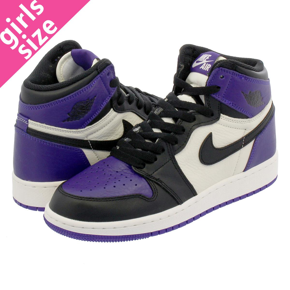 59bafa5101c NIKE AIR JORDAN 1 RETRO HIGH OG BG Nike Air Jordan 1 nostalgic high OG BG  COURT PURPLE BLACK SAIL 575