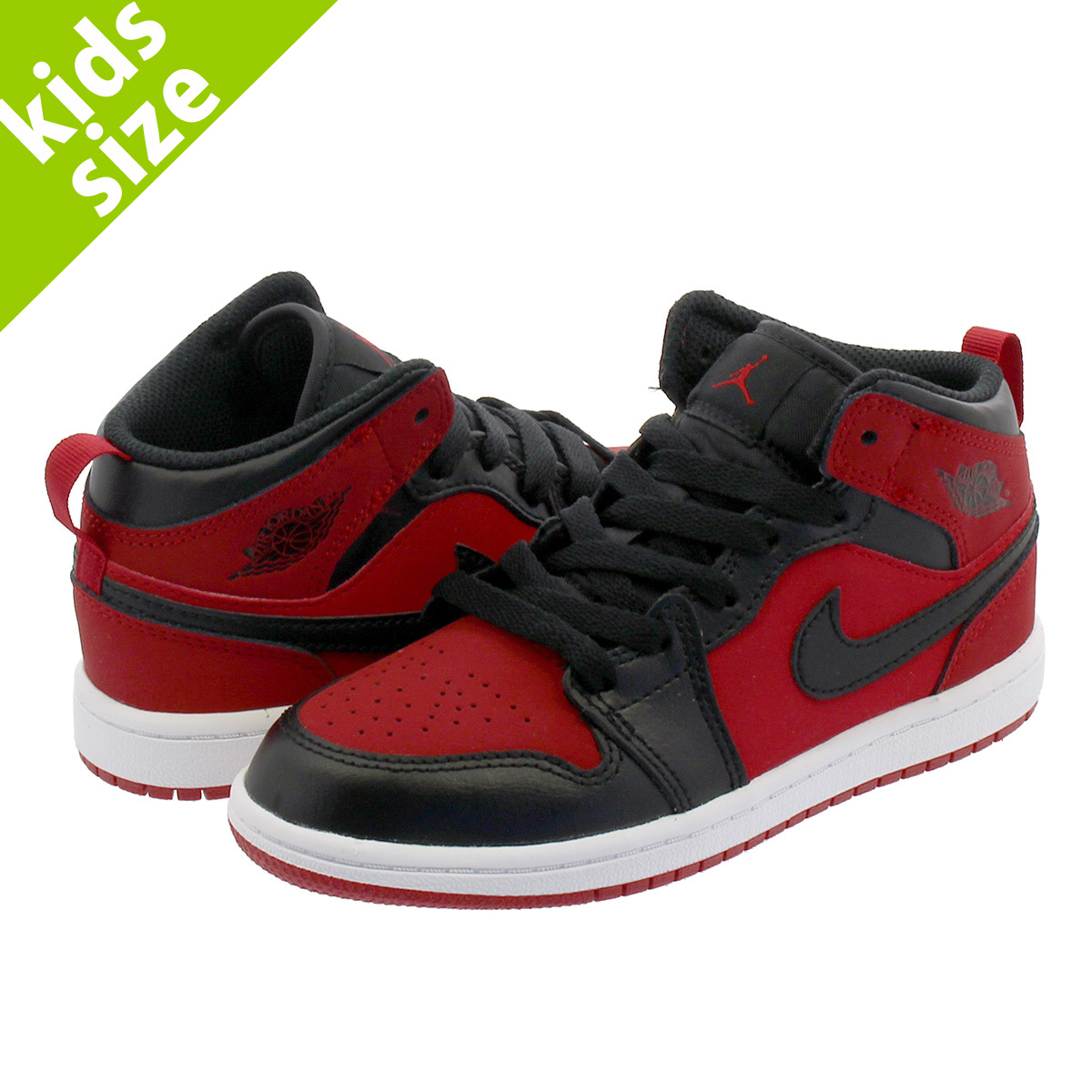 detailed look 2d259 b2065 NIKE AIR JORDAN 1 MID PS Nike Air Jordan 1 mid PS GYM RED BLACK ...