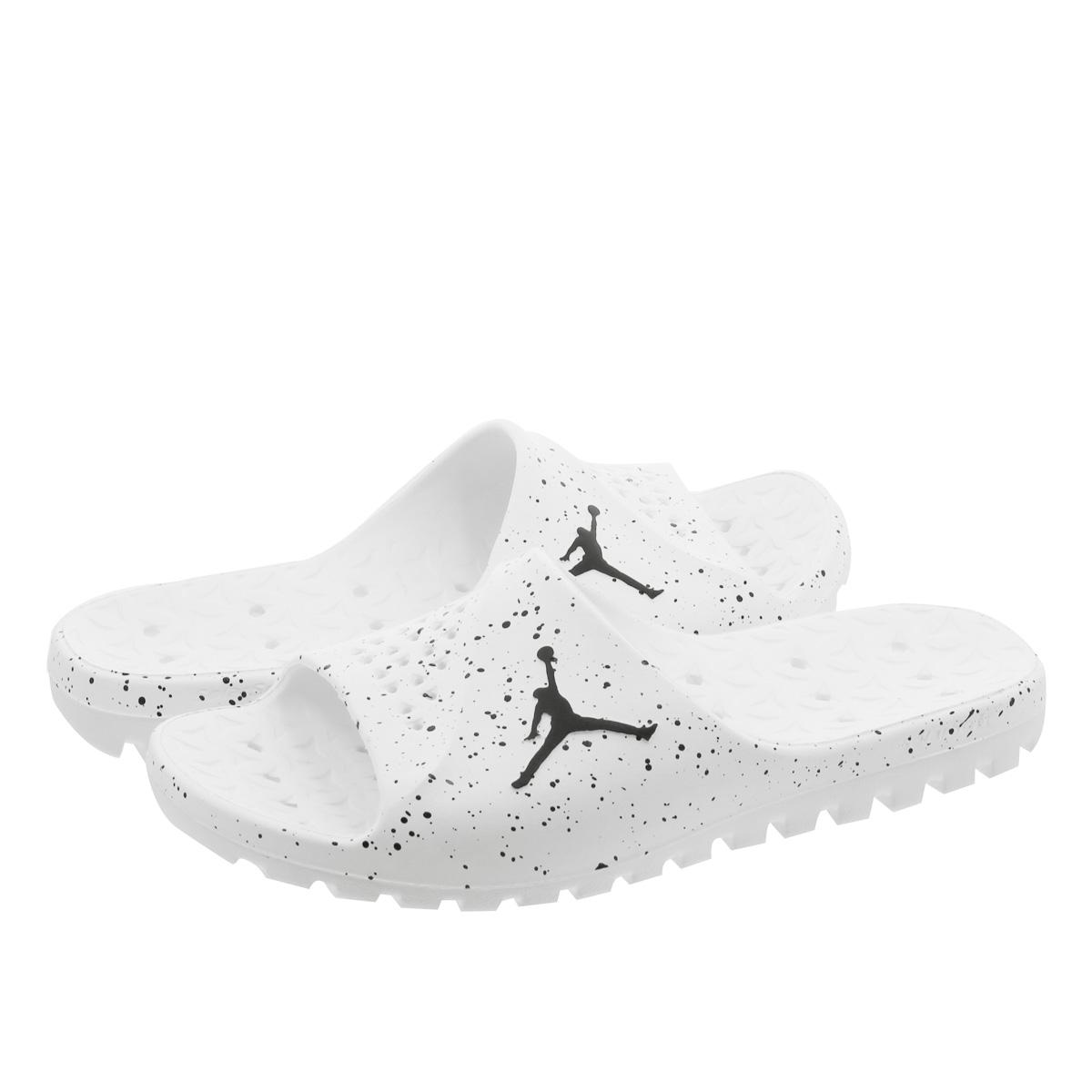 sports shoes 7aeb4 e7d84 FLY TEAM SLIDE Nike Jordan super fly team slide WHITE BLACK 716,985-100