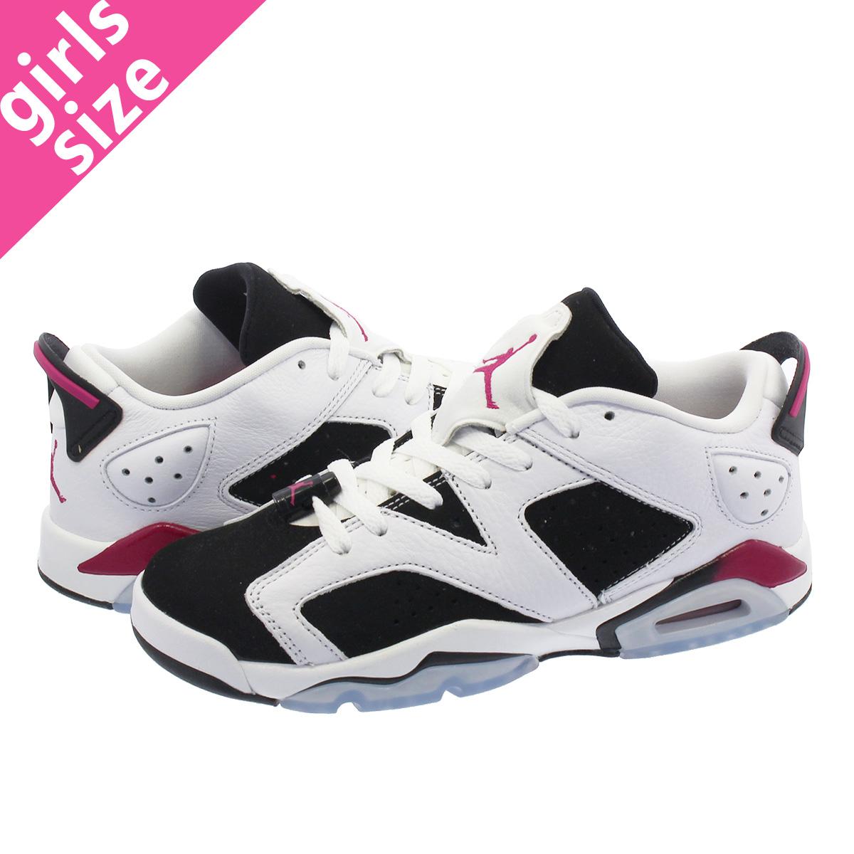 f3cd320051fb NIKE AIR JORDAN 6 RETRO LOW GG Nike Air Jordan 6 nostalgic low GG  WHITE FUCHSIA BLACK 768