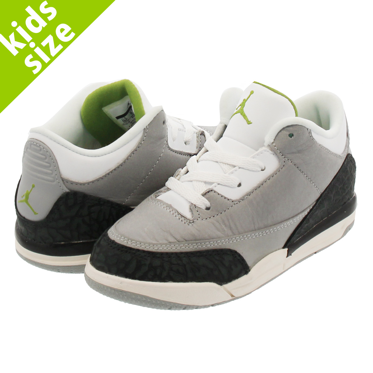 067cfec56ab142 NIKE AIR JORDAN 3 RETRO BT Nike Air Jordan 3 nostalgic BT LIGHT SMOKE GREY  CHLOROPHYLL BLACK WHITE 832