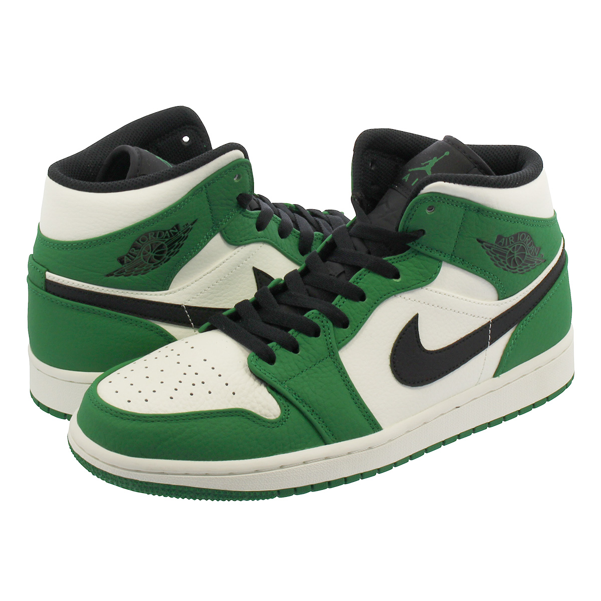 cheap for discount 997d5 a8eab NIKE AIR JORDAN 1 MID SE Nike Air Jordan 1 mid SE PINE GREEN/SAIL/BLACK  852,542-301