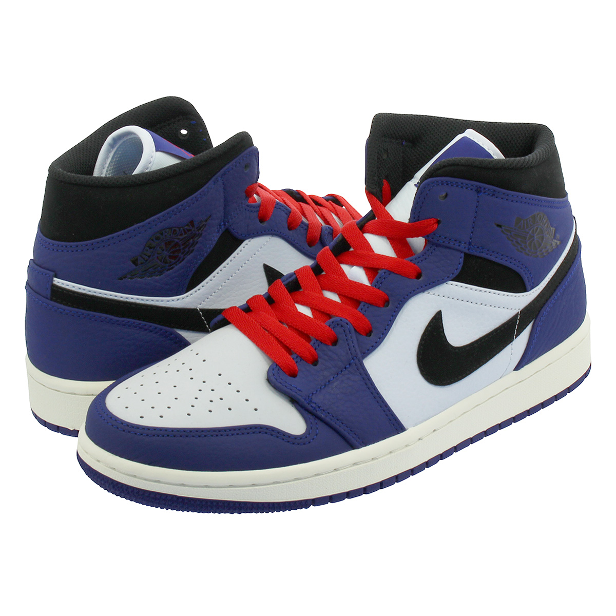 NIKE AIR JORDAN 1 MID SE Nike Air Jordan 1 mid SE DEEP ROYAL BLUE BLACK  852 db44fff4c