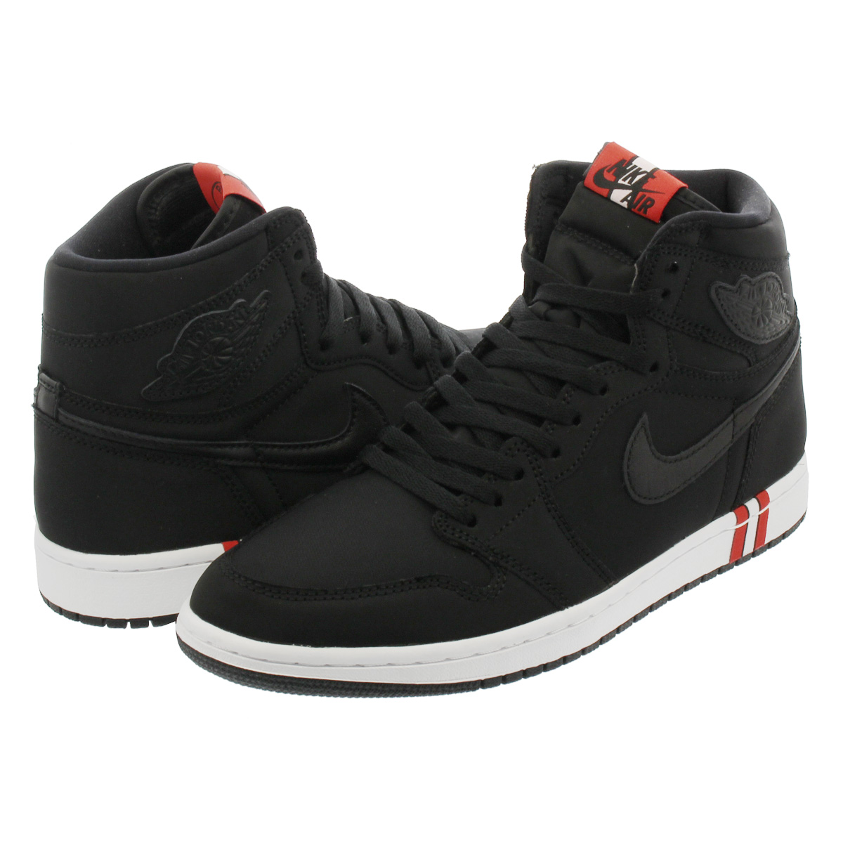 LOWTEX BIG-SMALL SHOP  NIKE AIR JORDAN 1 RETRO HIGH OG BCFC Nike Air Jordan  1 nostalgic high OG BLACK WHITE CHALLENGE RED ar3254-001  66e9af7b0