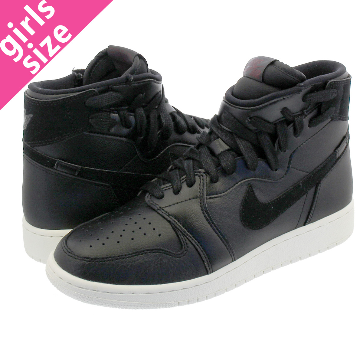 7c5a72de594 NIKE WMNS AIR JORDAN 1 REBEL XX Nike women Air Jordan 1 level XX BLACK BLACK  SAIL BARELY ROSE ar5599-006
