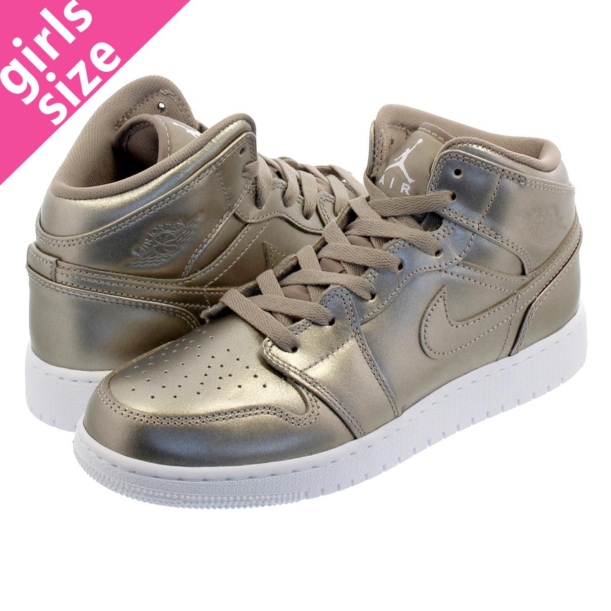 3cd58268f410b6 NIKE AIR JORDAN 1 MID GS Nike Air Jordan 1 mid GS SEPIA STONE WHITE NOBLE  RED av5174-200