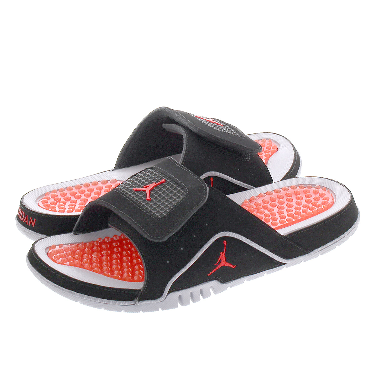 c8fb2be4ccda2e NIKE JORDAN HYDRO IV RETRO Nike Jordan high mud 4 nostalgic BLACK FIRE  RED CEMENT GREY 532