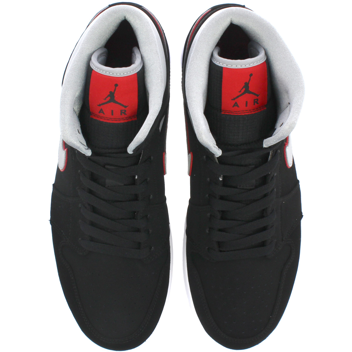 sports shoes 3ff50 dbe7a NIKE AIR JORDAN 1 MID Nike Air Jordan 1 mid BLACK PARTICLE GREY WHITE GYM  RED 554,724-060