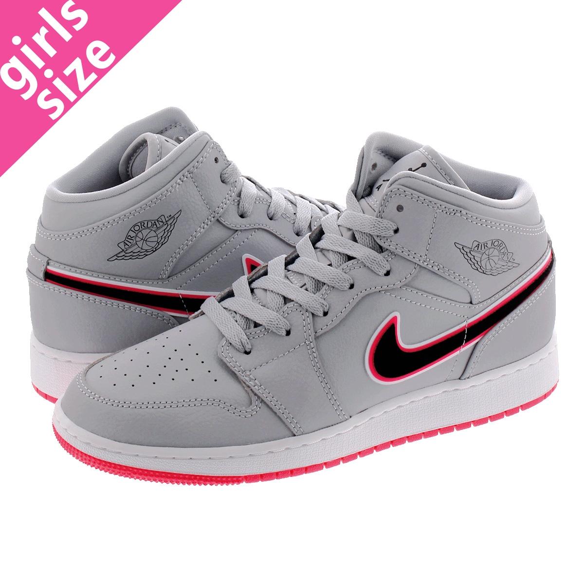 separation shoes 3341d 26c18 NIKE AIR JORDAN 1 MID GG Nike Air Jordan 1 mid GG WOLF GREY/RACER  PINK/WHITE/BLACK 555,112-060