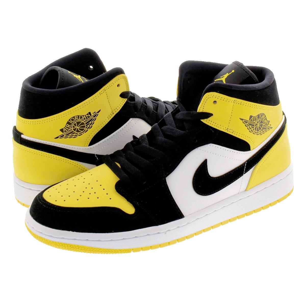 buy popular 2b4d1 b2d5e NIKE AIR JORDAN 1 MID SE Nike Air Jordan 1 mid SE BLACK/BLACK/TOUR  YELLOW/WHITE 852,542-071