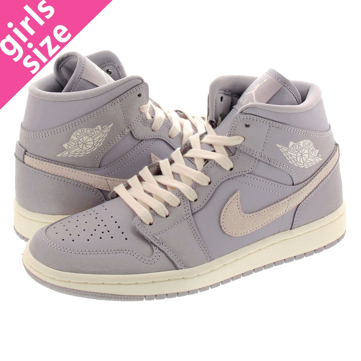 Jordan Wmns Air Jordan 1 Mid Atmosphere Grey CD7240 002