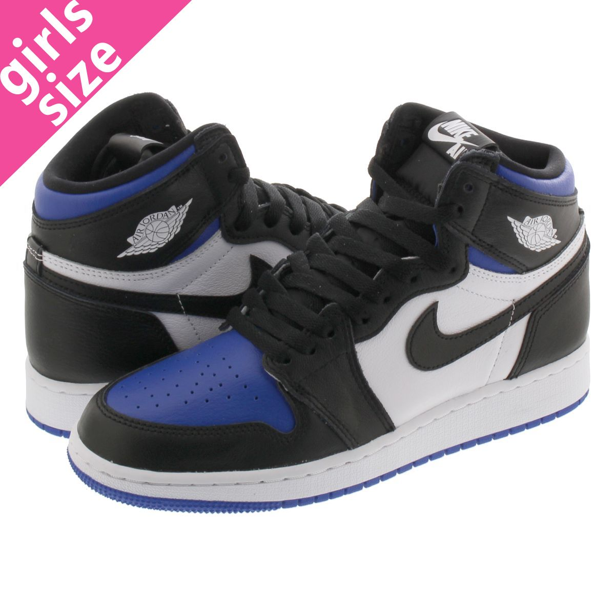 NIKE AIR JORDAN 1 RETRO HIGH OG GS 【ROYAL TOE】 ナイキ エア ジョーダン 1 レトロ ハイ OG GS BLACK/WHITE/GAME ROYAL 575441-041