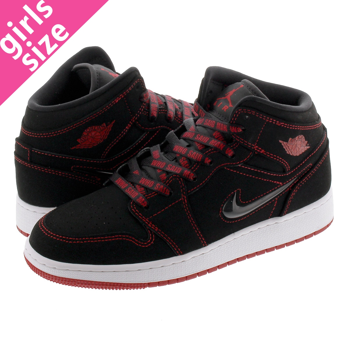 NIKE AIR JORDAN 1 MID SE FRLS GS 【COME FLY WITH ME】 ナイキ エア ジョーダン 1 ミッド SE フィアレス GSッド SE GS BLACK/GYM RED/WHITE cu6617-062