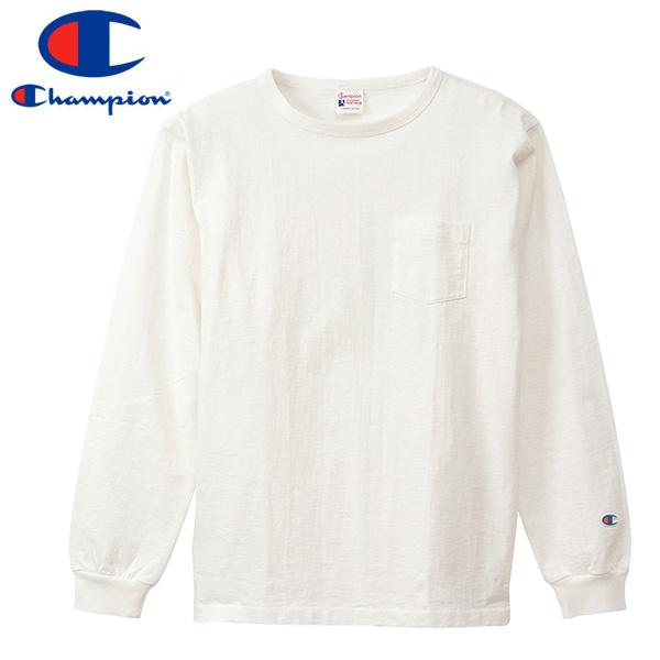 CHAMPION LONG T-SHIRT WITH POCKET 【ROCHESTER】 チャンピオン ロングTシャツ ポケット OFF WHITE c3-q419