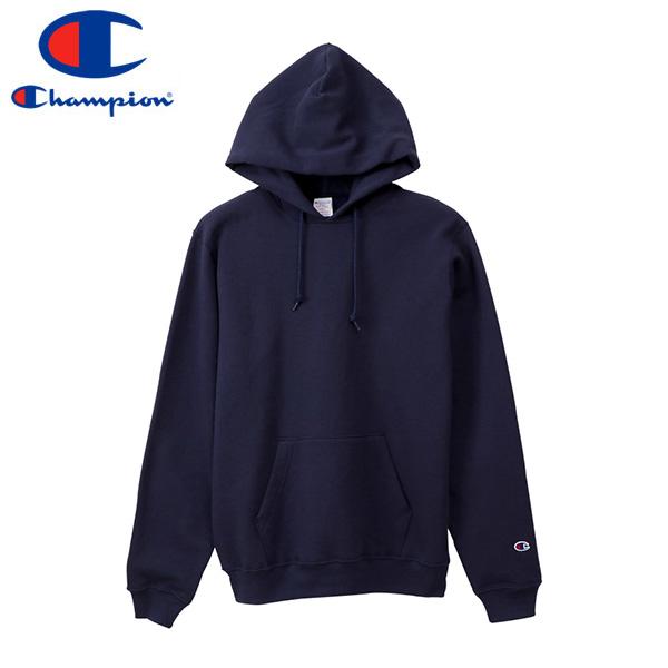 CHAMPION PULLOVER HOODED SWEATSHIRT チャンピオン プルオーバー フーデット スウェットシャツ NAVY c5-p101-370