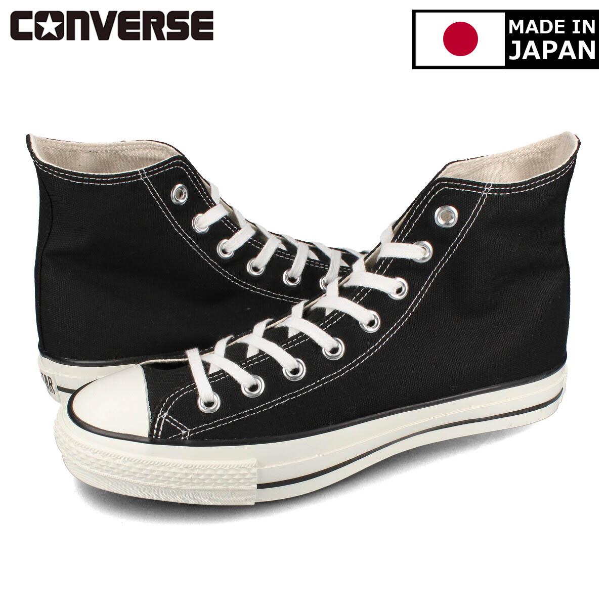 CONVERSE CANVAS ALL STAR J HIMADE IN JAPAN日本製コンバース オールスター J HI BLACKc34Aq5RjL