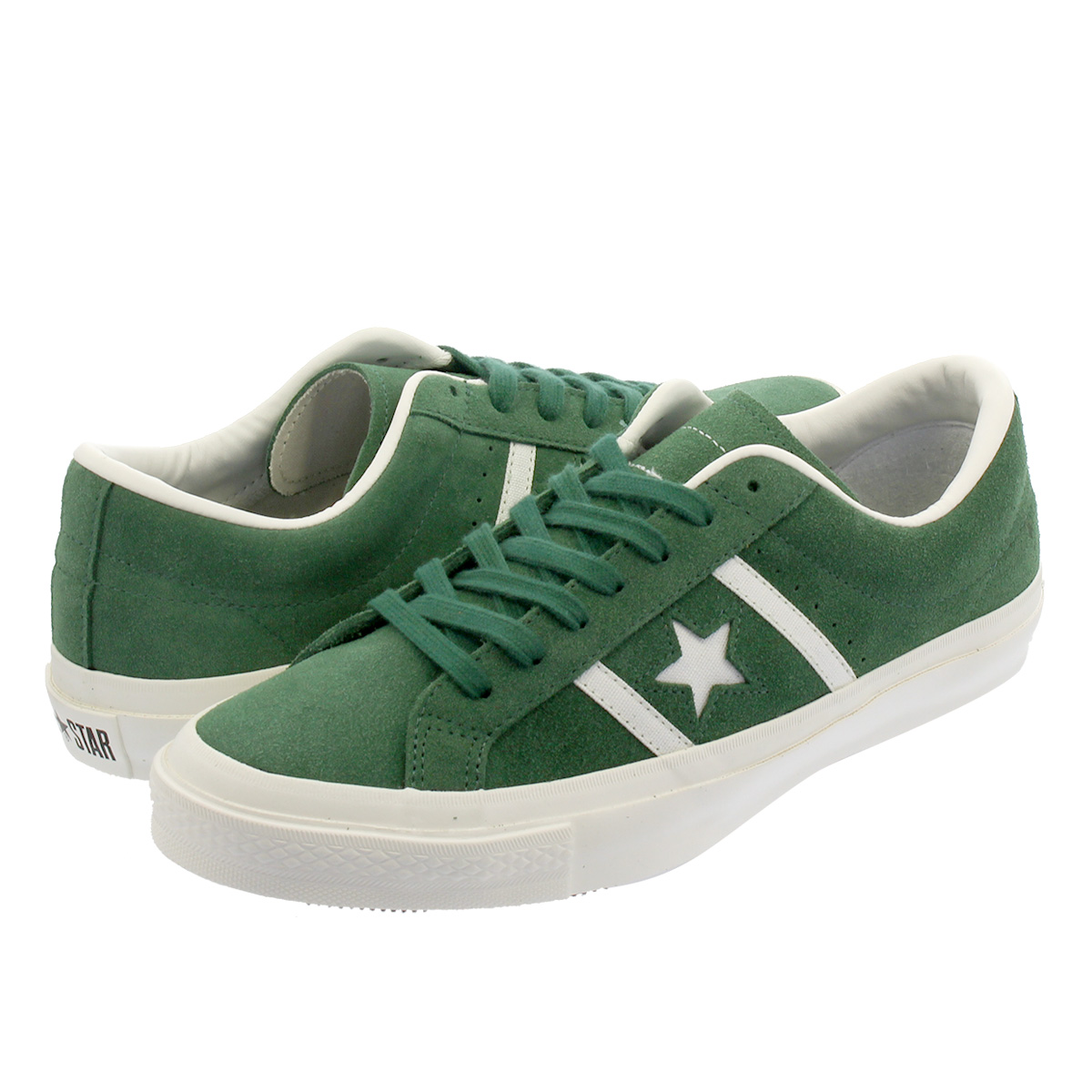 485663dd206c CONVERSE STAR BARS SUEDE TEAMCOLORS Converse star and Byrds suede team  color GREEN 32350504
