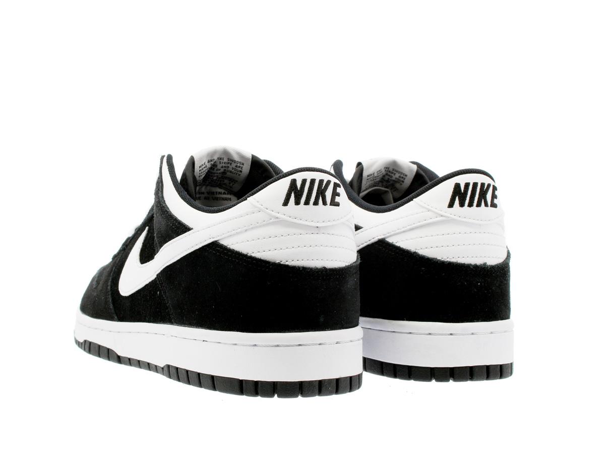 nike dunk black and white