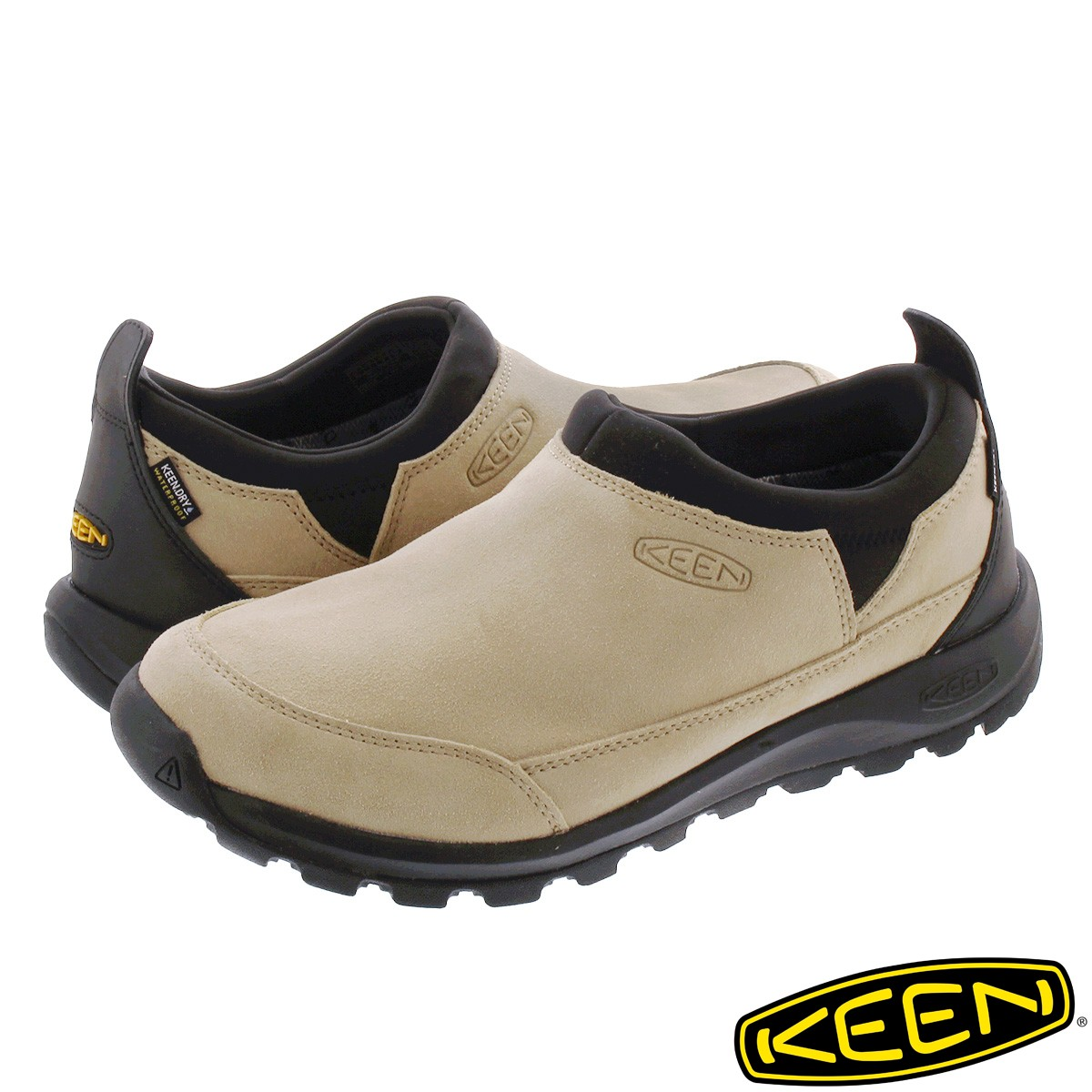 送料無料 KEEN キーン スニーカー 靴 スリッポン メンズ 買い取り 防水 ハイキング アウトドア 春の新作 登山 ウォータープルーフ MOC フェス GLIESER WP ベージュ SAFARI グリーザー モック 1023838 BLACK