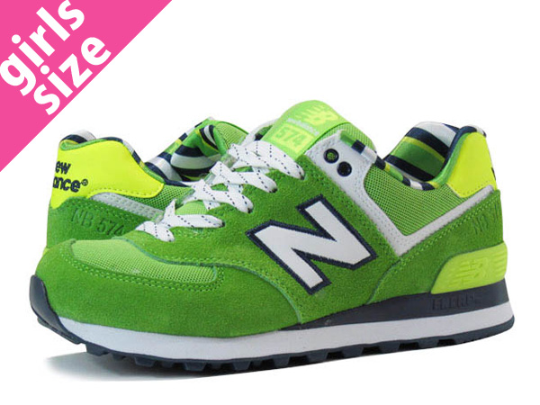 NEW BALANCE WL574YCG new balance WL574YCG GREEN/YELLOW