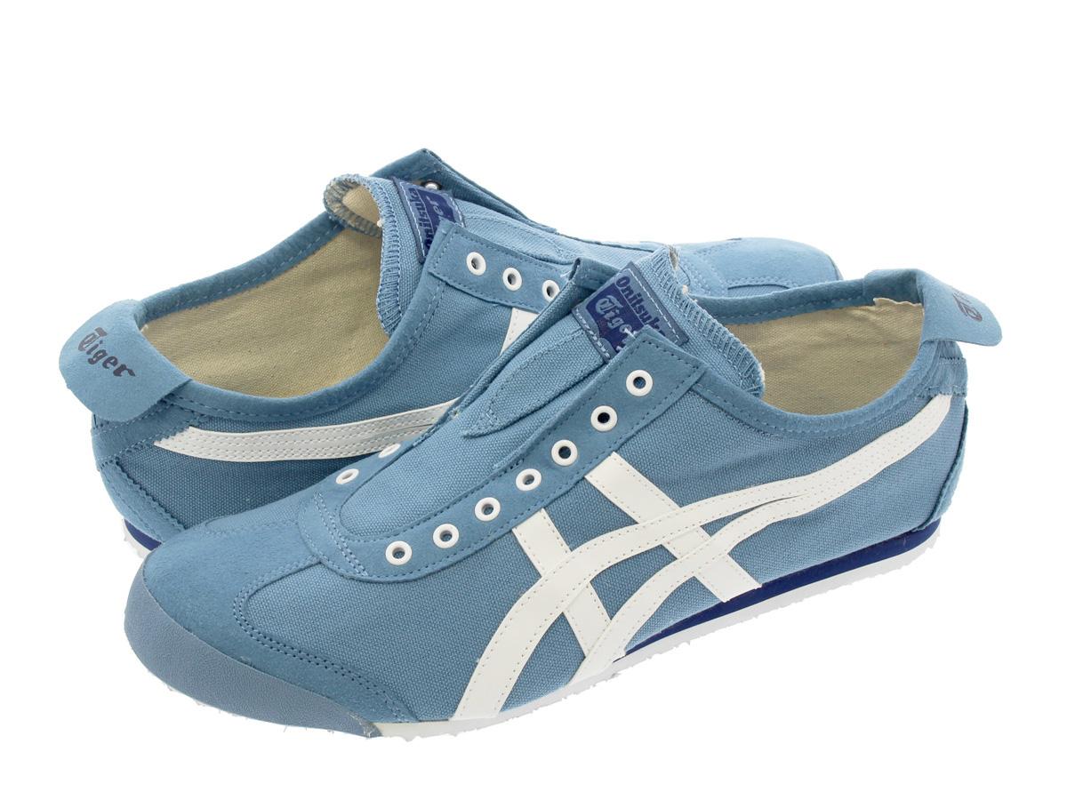 Onitsuka Tiger MEXICO 66 SLIP-ON onitsukataigamekishiko 66懒汉鞋BLUE HEAVEN/WHITE